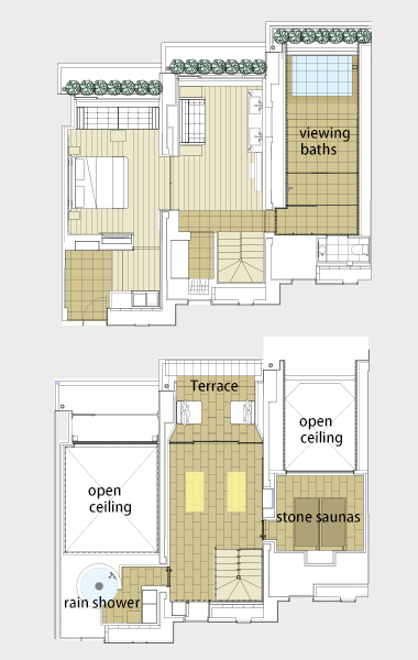The Bella Vista Maisonette Spa Suite layout
